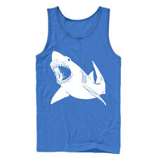 Lost Gods Great White Shark Bite Mens Graphic Tank Top