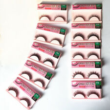 10 Pairs Long Cross False Eyelashes Makeup Natural Fake Thick Eye Lashes 06n