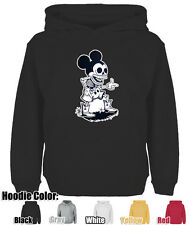Mens Womens Cute Disney Mickey Mouse Skull Punk Cowboy Style Sweatshirt Hoodie