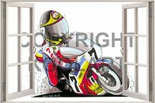 Huge 3D Koolart Window view Suzuki Barry Sheene Wall Sticker Poster 1482