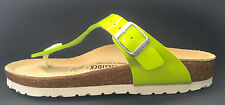 New Birkenstock Gizeh Classic Sandals - Kiwi Green - Made In Germany