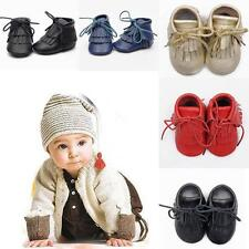 Baby Toddler Leather Winter Warm Shoes Moccasins Tassel Boots Firstwalker Shoes