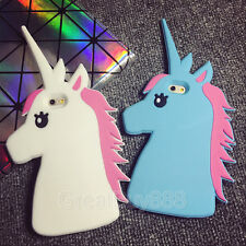 3D Cute Unicorn Cartoon Rubber Soft Case Cover for Samsung S3 4 S5 S6 Edge Note5