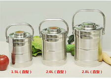 Portable stainless steel vacuum insulation barrels of three layers of lunch box