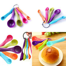 C8 US 5pc Kitchen Scale Measuring Spoons Baking Utensil Milk Sauce Spoon Cup
