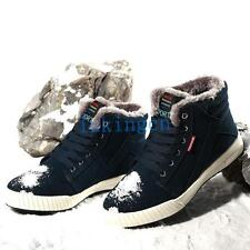 Warm Mens Winter Fur Lined Ankle Boots Faux Suede Sport Snow Boots Sneaker Shoes