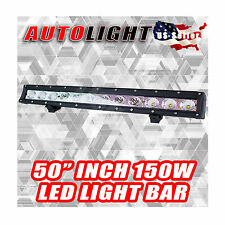 150W 50''INCH 12600 LUMENS SINGLE ROW CREE LED LIGHT BAR ATV/4X4/TRUCK/BOAT/YARD