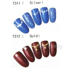 1Sheet Manicure Nail Art Water Transfers Decals Stickers Star Necklace Pattern