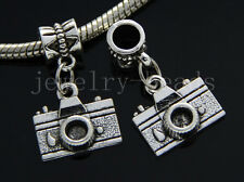 6/30/100pcs Tibetan Silver camera Bulk Lots Dangle Jewelry Craft Charms Bracelet