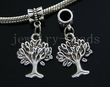 6/30/100pcs Tibetan Silver Green tree Bulk Lots Dangle Jewelry Charms Bracelet