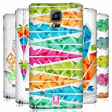 HEAD CASE DESIGNS GEOMETRIC FEATHERS BATTERY COVER FOR SAMSUNG PHONES 1
