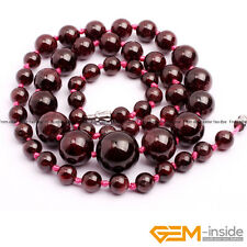 Handmade 6-14mm Beaded Graduated Gemstone Birthstone Long Necklace Jewelry Gifts