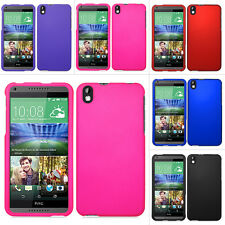For HTC Desire 816 Colorful Rubberized Hard Case Snap On Cover Phone Accessory