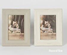 Shabby Chic Rustic Wooden Photo Frame Cream Home Decor Gift Picture Frames