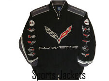 2017 Authentic Corvette Racing Embroidered Cotton Jacket  JH Design Black new