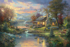 Nature Paradise Thomas Kinkade Art HD Giclee Print Canvas Wall decor picture