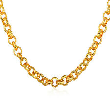 Classic Cable Chain Necklaces 18K Gold/Platinum Plated 22 inch 6mm Men Jewelry