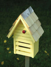"""Heartwood Lady Bug Loft Bug House in Yellow 029E , 10"""" x 8"""" x 6"""" New"""
