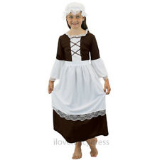 GIRLS TUDOR MAID COSTUME POOR HISTORIC GIRL CHILDS SCHOOL CURRICULUM FANCY DRESS