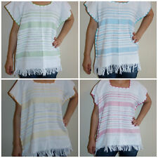 Assorted Colors Hippie Vintage Style Mexican Tunic Blouse Telar Hand loom XL