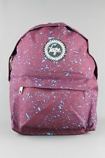 HYPE JUST HYPE Burgundy Red Blue Speckle Backpack Rucksack Bag