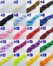 25M Nylon Cord Thread Chinese Knot Macrame Rattail Bracelet Braided String Craft
