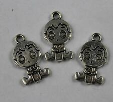 Free shipping 15/50pcs Retro style lovely baby alloy charms pendants 24x13mm