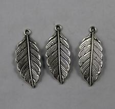 Free shipping 50/200pcs Retro style lovely leaves alloy charms pendants 31x13mm