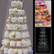 6/7TIER CIRCLE ROUND ACRYLIC CUPCAKE PARTY WEDDING CUP CAKE STAND HOLDER DISPLAY