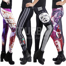 Official Star Wars Womens Leggings Stretchy Elasticated New Ladies Jeggings
