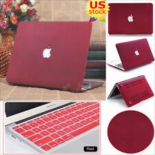 """2in1 Quicksand Matte Wine Red Hard Case Cover For MacBook Pro 13"""" Air 11/13""""inch"""