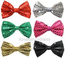 12 X SEQUIN BOW TIE DANCE STAGE SHOW THEATRE PRODUCTION DICKY BOW 6 COLOURS