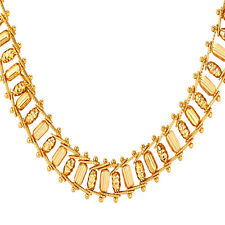 Cool Bullet Chain Necklaces 18K Gold/Platinum Plated 19 inch 11 mm Men Jewelry