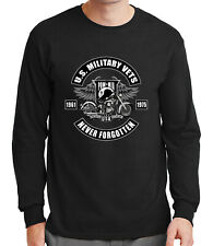 POW MIA Never Forget ADULT Long Sleeve Shirt Military Vets Men LS Tee - 1249C