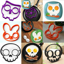 C8 US Fried Egg Mold Silicone Funny Cooking Kitchen Tools Skull Pancake Egg Ring