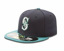 New Era 5950 59Fifty Seattle Mariners On-FIeld Fitted Cap Various Sizes