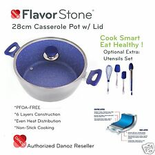 Danoz Flavorstone 28cm Casserole Pan + Warranty✓ Authentic✓ As Seen on TV✓