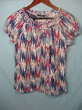 NWT Chaps by Ralph Lauren Women's White, Blue, and Pink Top
