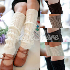 Womens High Socks Knitted Stockings Leggings Ballet Dance Legs Warmers