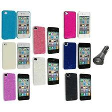 Bling Glitter Sparkly Ultra Thin Hard Back Cover+Car Charger for iPhone 4 4G