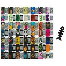 Design Hard Rubberized Color Snap-On Case Cover+Cable Wrap for iPhone 4 4S 4G