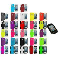Hybrid Mesh Hard/Soft Silicone Case Cover+Sticky Pad for iPhone 5 5S Accessory