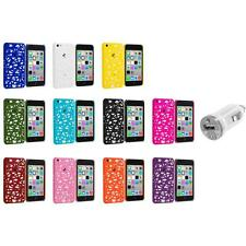 For Apple iPhone 5C Color Birds Nest Slim Hard Snap-On Case Cover+USB Charger