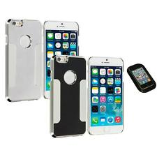 For Apple iPhone 6 (4.7) Brushed Aluminum Metal Hard Case Cover Sticky Pad