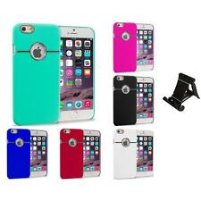 For Apple iPhone 6 (4.7) Hard Deluxe Chrome Case Cover Accessory Stand Mount