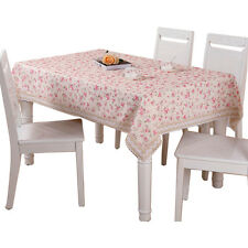 Square Dinning Floral Pattern Desk Table Cloth Cupboard Lace Table Coverings