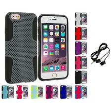 For Apple iPhone 6 Plus (5.5) Hybrid Mesh Shockproof Case Cover Headphones