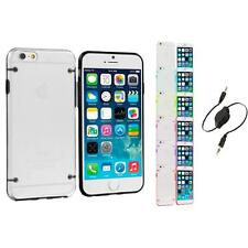 For Apple iPhone 6 Plus 5.5 Hybrid Clear Hard TPU Case Cover Aux Cable