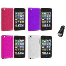 Color Bling Glitter Hard Cover Case+2.1A Charger for iPod Touch 4th Gen 4G
