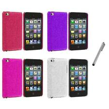 Color Bling Glitter Hard Cover Case+Metal Pen for iPod Touch 4th Gen 4G